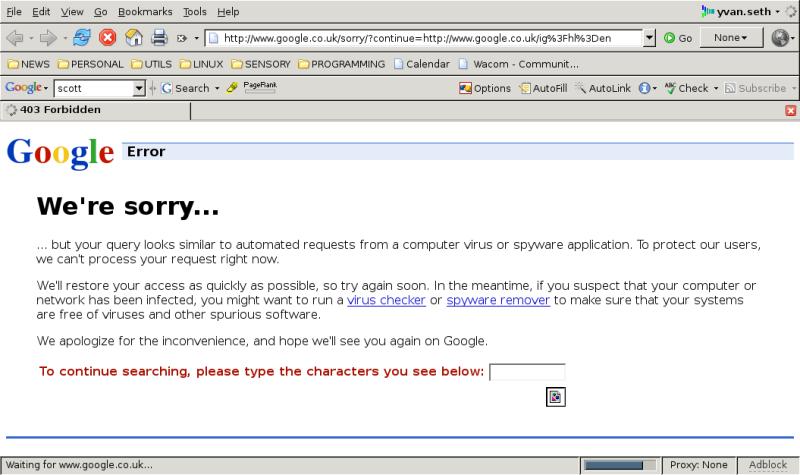Google hates me
