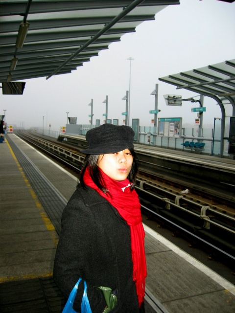 Kathlene at Blackwall DLR Station.