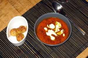 Carrot and Tomato Soup with Basil and Tarragon: Output