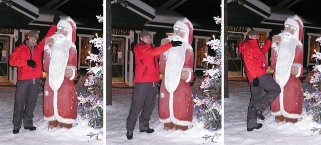 Skiing in Ylläs, Finland - Santa hate