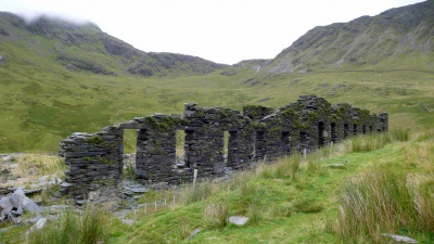 Barracks - home of slate mine workers during the week