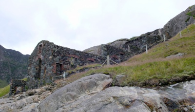 Copper works by Llyn Llydaw