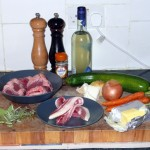 Stuffed Lamb Heart - Ingredients