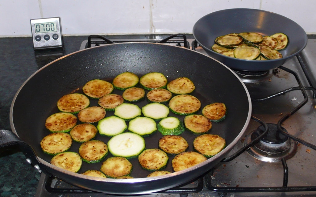 Stuffed Lamb Heart - Frying Courgette